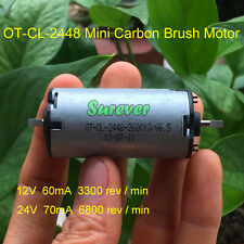 DC12V 24V 6800RPM Mini Carbon Brush Motor Double D Shaped Shaft Electric Curtain