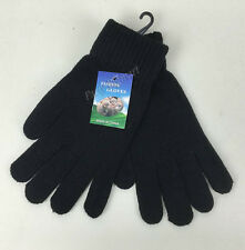 Womens Winter Black Full Finger Warm Gloves Soft Knit Comfy-au Stock