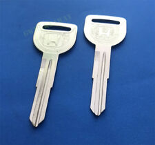 2x Key Blank Ignition Uncut for Honda Accord Civic Shuttle Crx Integra