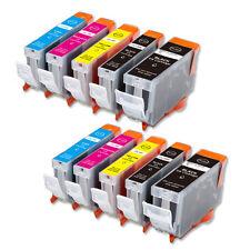 10 PK Printer Ink + Chip for Canon PGI-5BK CLI-8 MP530 MP800 MP830 FAST SHIP