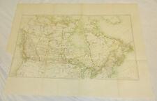 "1877 Antique COLOR Map/ CANADA, 15x21"""