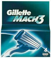 GILLETTE MACH 3 BLADES 4 PACK RAZORS SHAVING GENUINE FAST DISPATCH UK SELLER