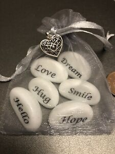 Sentiment Pebbles Love/Hope/Hug/Hello/Smile/Dream. Lockdown Isolation Gift Bag