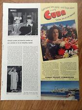 1950 Cuba Vacation Travel Ad Holiday Isle of Tropics