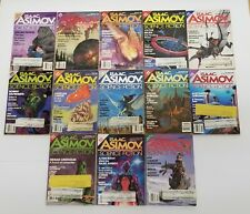 13 Issues of Asimov's Science Fiction Magazines~1989 Complete Year Full Set