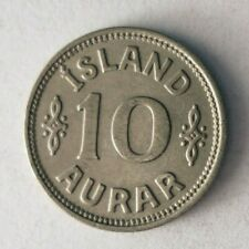 1939 ICELAND 10 AURAR - High Quality Low Mintage Coin - Lot #O32