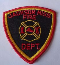 JACKSON MISS  FIRE DEPT CLOTH PATCH