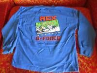 SMALL sz 7 True Vtg 80s BOYS BUSTER BROWN SKATER GRAPHIC USA LS T-shirt USA