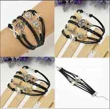 New Black Owl note anchors 8 silver bracelet weaving preparation Accessories COH