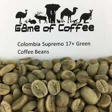 Raw Colombia Supremo 17+ Green Coffee Beans 500g