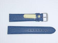 Di-Modell Genuine Shark Leather 20 mm NAVY Waterproof Watch Band SHARKSKIN