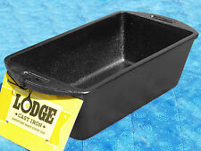 1 Lodge L4LP3 Cast Iron Bread Baking Loaf Pan seasoned FREE SHIPPING meatloaf