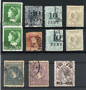 Netherlands Indies & Suriname Used and Unused Selection Total Cat £250+
