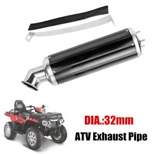 32mm Aluminum Alloy Elbow Exhaust Pipe Muffler Silencer Dirt Pit Quad Bike ATV