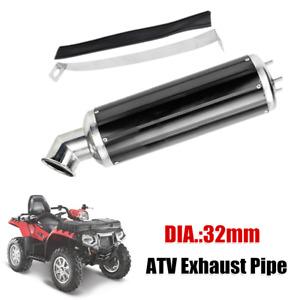 32mm Aluminum Alloy Elbow Exhaust Pipe Muffler Silencer Dirt Pit Quad Bike ATV