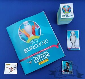 PANINI, Euro 2020 Tournament Edition, complete loose sticker set + empty album