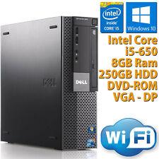 PC COMPUTER DESKTOP RICONDIZIONATO DELL 980 CORE i5-650 8GB 250GB WIN 10 WIFI