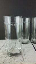 "Set of 4 Pfaltzgraff Filigree White Drinking Glasses Coolers Tumblers 6-1/4"""