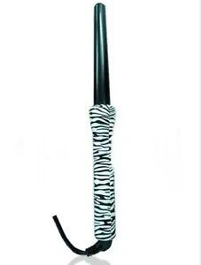 Jannu Clipless Ceramic Tourmaline Hair Curling Wand Zebra Styler Curler 25mm UK