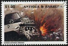 WWII 1945 Battle of Berlin - German Tanks and Defences Smashed Stamp