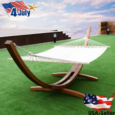 161 Wooden Curved Arc Hammock Stand W Hammock-size Outdoor Patio Garden Swing