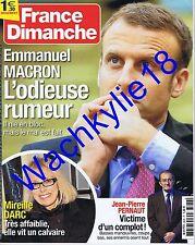 France dimanche n°3676 du 10/02/2017 Emmanuel Macron Mireille Darc Pernaut