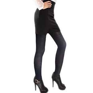 Ladies opaque bamboo tights womens black tights one size regular