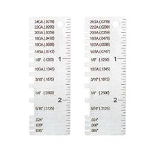 2 Pk Sheet Metal Gauge Thickness Gage Measuring Tool Wire Gauge