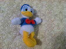 "Disney Store Exclusive Donald Duck 9 1/2"" Mini Bean Bag Plush Doll"