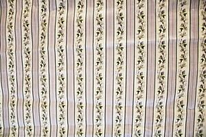 Ralph Lauren Striped Lavender Rose Shabby Chic Pillow Drapery Fabric 6.39 Yds