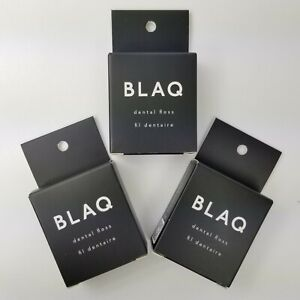BLAQ Activated Charcoal Dental Floss SET OF 3 Natural Oils Clove Coconut Mint