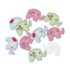 30PCs Wood Buttons Elephant 2 Holes Mixed 29mm x20mm