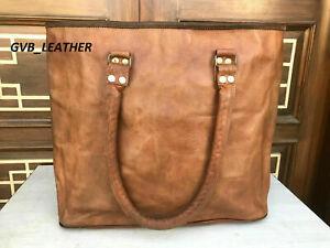 Leather Handbag Large Vintage Bucket All Accessorie tote Women Tote bag Shoulde