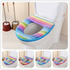Bathroom Soft Toilet Seat Closestool Washable Warmer Mat Cover Pad Cushion Warm