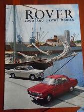 Rover 2000 & 3 Litre Models range brochure c1960's ref 690