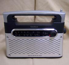 Radio Shack AM/FM/WX weather portable Radio 12-889 Brushed Metal grill ac dc