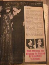 The Rolling Stones, Mick Jagger, Five Page Vintage Clipping, Bianca