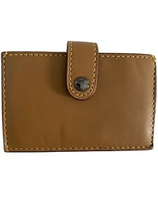 COACH Leather Accordion Card Case Brown Saddle MSRP $95 Multi Color Sleeves