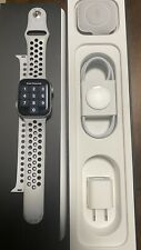 Apple Watch Series 5 Nike 44mm Silver Aluminum Case with Pure Platinum/Black...