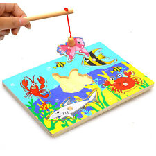 Funny Baby Wooden Magnetic Fishing Game 3D Jigsaw Puzzle Children Education-Toys