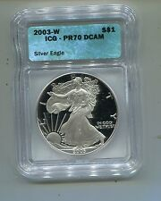 2003-W-Proof Silver Eagle-ICG-PR70 DCAM