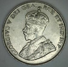 1922 Canadian Imperial Crowned Two Leaf Nickel 5 Cents  BU Coin