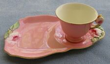 Royal Winton Pink Petunia Floral Snack Plate & Tea Cup Set England