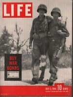 Life July 3 1944 Normandy Cherbourg Buy War Bonds Coke Ad 081919AME