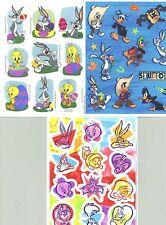 3 Sheets Looney Tunes Scrapbook Stickers! Tweety Bird Taz Bugs Bunny Daffy Duck