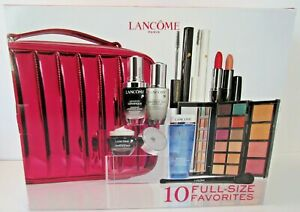 Lancome 2020 Holiday Beauty Box 10 Piece Full Size Set Including Train Case OFCB