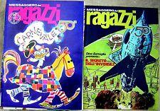 Lotto IL MESSAGGERO DEI RAGAZZI annata 1972 16 su 23 Battaglia Toppi + inserti