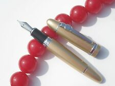 NEW JINHAO 159 Fountain Pens M Nib  Champagne gold  Metal bar Heavy pen