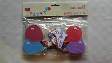SASS BELLE - PARTY SIGN BUNTING - BANNER - WOODEN Balloon HANGING GARLAND