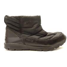 Sorel Womens Whitney Camp Short Waterproof Black Warm Snow Boots Size US 8 EU 39
